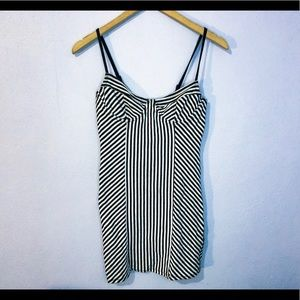 Forever 21 Striped Black and White Bodycon Dress